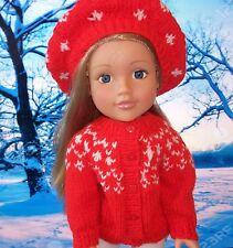American Girl, amico di marca, modello Bambola Lavoro a Maglia, Cardigan. + cappello.