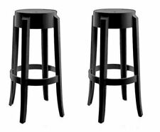 PHILIPPE STARCK - KARTELL - PAIRE TABOURETS - CHARLES GHOST - KNOLL ERA - 442€