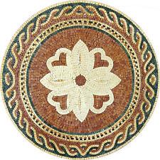 Majestic Decor Round Medallion Tile Marble Mosaic MD1003