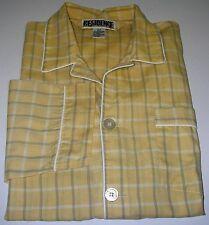Men's Sleepwear Pyjama Set Long Sleeve Cotton/Poly Yellow Striped Size S/P.