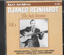 DJANGO REINHARDT The Solo Sessions CD STEPHANE GRAPPELLI LOUIS VOLA BARO FERRET