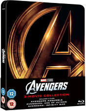 AVENGERS TRILOGY BLU-RAY STEELBOOK 1-3 UK EDITION REGION FREE NEW AND SEALED!!!!