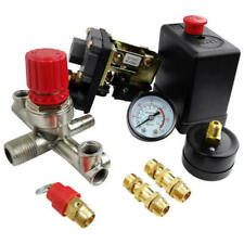 90-120PSI Air Compressor Pressure Switch Control Valve Regulator Gauges New