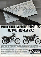 Publicité Advertising 1987  MOTO YAMAHA 125 cc  La SR 125 et la DT 125 LCR