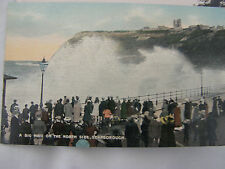 Postcard, A Big Wave on the North Side, Scarborough, Dennis, early 1900s