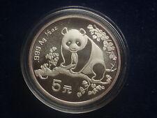 5 Yuan 1993 Panda China aus Silber  W/16/188