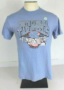 Champion Mens M UNC Tarheels 2008 Final Four Basketball S/S Tee T Shirt Blue NWD