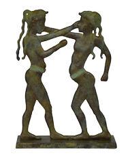 Minoan Youths Boxing Bronze Sculpture - Santorini Thera fresco 16th century BCE