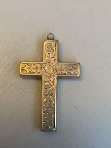 vintage 9ct gold cross Stamped Birmingham