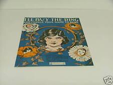 1919 Sheet Music I'll Buy The Ring & Change Your Name Cover Art De Takacs