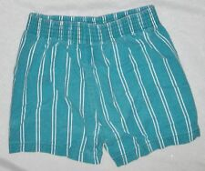Teal Blue Green White Size 12 Mo Baby Pull up Shorts