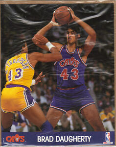 Mint Sealed 1990 NBA Hoops Action 8x10 Photo #43 Brad Daugherty Cavaliers CAVS