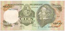 URUGUAY N$ 100.- ND(1986) P-62c XF+ CAT PR $ 1 SERIE E PRINTER THOMAS DE LA RUE