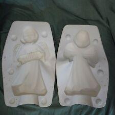Vintage 1970s Ceramic Slip Casting Mold Cramer Angel w/ Accordion 210