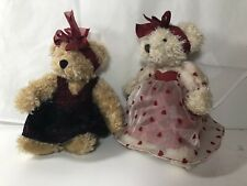 Vintage Russ Berrie 'Valentine' Bears - Claudette and Tess