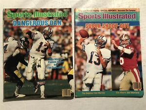 1985 Sports Illustrated MIAMI DOLPHINS 49ers Set SUPER BOWL XIX Montana MARINO