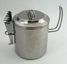 Ilsa Italy Italian Mod Designer Mid Century Modern Insulated Ice Bucket & Tongs