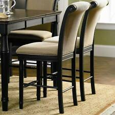Black and Gold Tone Upholstered Counter Height Stool Chair by Coaster - Set of 2