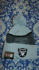 Oakland Raiders New Era Hat Cap Tuque Mens Size New NWT   Nice Insulated