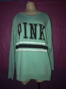 PINK Victoria's Secret VS Pullover Sweatshirt Blue Black #2745