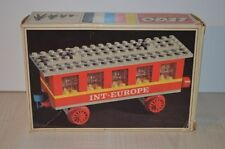 01083 LEGO Trains 4.5V Train Cars vintage - Passenger Coach 123 + BOX & PLAN