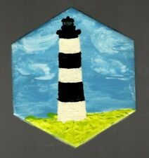 Bodie Island Lighthouse Hand-painted Decorative Tile Coaster