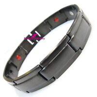 Black Magnetic Bio Energy Bracelet Arthritis Health Healing Wristband