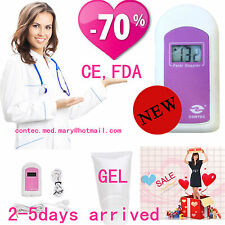 Pregnancy Baby fetus Heart Rate Monitor Fetal Doppler Recorder Sound+Gel US sell