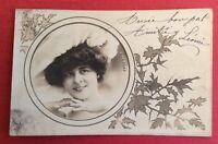 CPA. E. DE VERE . Artiste. Art Nouveau. Médaillon. 1906.