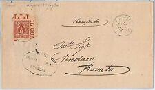 ITALIA REGNO storia postale - Sass 69 angolo di foglio su Busta da Erbusco 1903