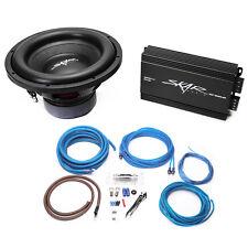 "NEW SKAR AUDIO SDR-12 D2 1200W 12"" BASS PACKAGE WITH RP-800.1D AMP & 4GA AMP KIT"