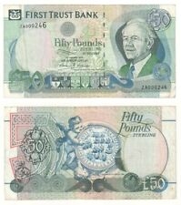 First Trust Bank £50, Rare ZA replacement note (1998) BYB ref: NI.432 - F+.