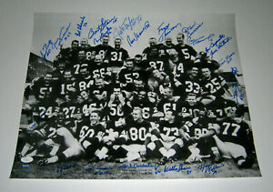 1962 PACKERS team signed 16x20 photo 20 AUTOS Bart Starr Jim Taylor Hornung JSA