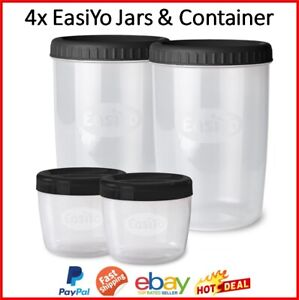 EasiYo Yogurt Jars Containers Lunchtaker Yoghurt Pack Food Lunch Storage Kitchen