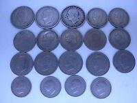 Greece Grece   19 coins  Used 50 Lepta, 1, 2 drachma 1962 ,King  Paul lot  2124