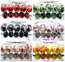 20pcs Fashion mixed irregular Porcelain Beads Fit European Charm DIY Bracelet