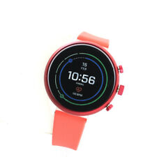 Fossil  FTW6027 Sport 41 Red HR GPS Bluetooth Smartwatch Silicone Band Watch