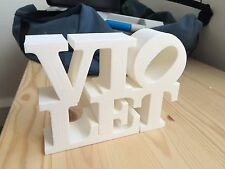 Custom 3D name sign, letter block, free standing - baby gift or decoration