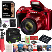 Canon PowerShot SX420 Digital Camera 42x Optical Zoom HD Wi-Fi NFC Red Bundle
