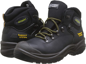 Grisport Contractor Black Leather Steel Toe Cap Safety Boots UK Sizes 7 - 12 S3