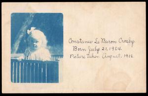 SWEET DOWN SYNDROME GIRL w GLOWING BLONDE HAIR ~ 1906 CYANOTYPE VINTAGE PHOTO