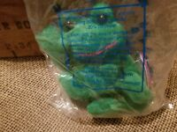 Vintage Avon Full O Beans Plush Birthstone March Tad The Frog Green - NIP