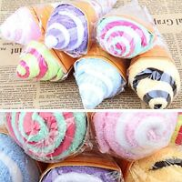1pc Bathroom Bath Towel Face Portable Lovely Ice Cream Home Useful Soft Towel