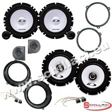 Kit 6 Speakers for FIAT PANDA Alpine with adapters