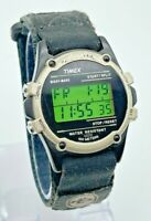 Vintage 1990s Men's TIMEX Expedition Digital LCD Field Watch, Indiglo, Chrono