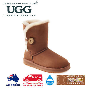 OZWEAR UGG Button Boots (Water Resistants) 3 Colours OB013