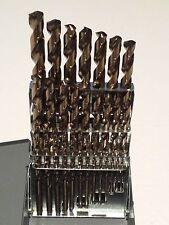 "Norseman 29pc Premium M42 Cobalt drill bit set 1/16"" to 1/2"" D-29 USA!! #68400"