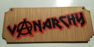 Van Life VANARCHY Wooden plaque. One only.  Prototype.  4.99/Offers