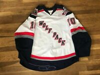 #10 Hartford Wolf Pack Game Used White Jersey New York Rangers Reebok AHL NHL