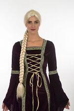 Halloween Princess Rapunzel Long Braid Blonde Party Wig